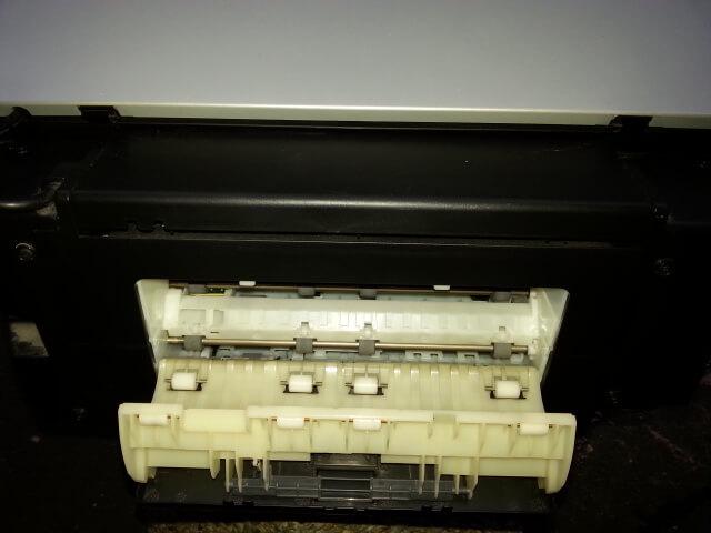 Capot arri re ouvert d 39 une imprimante canon mp600 les for Papier imprimante autocollant exterieur